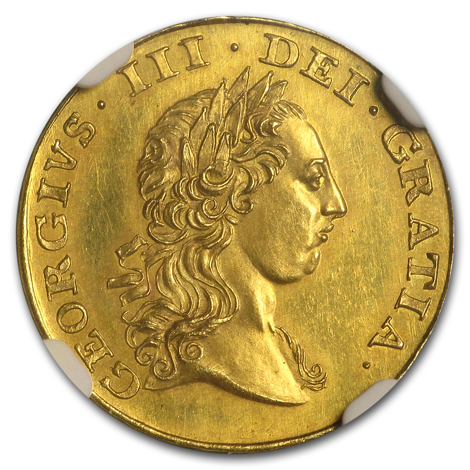 1764 Great Britain Gold Guinea Pattern PF-63 NGC