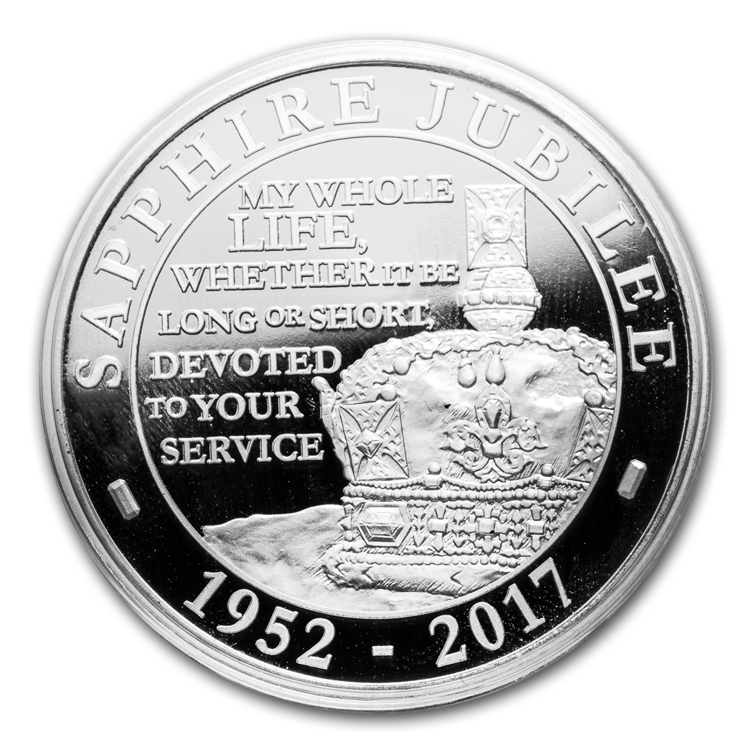 2017 Great Britain £5 Proof Silver Sapphire Jubilee Piedfort