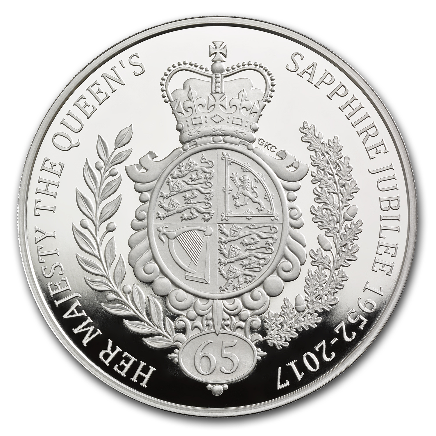 2017 Great Britain kilo Proof Silver Sapphire Jubilee