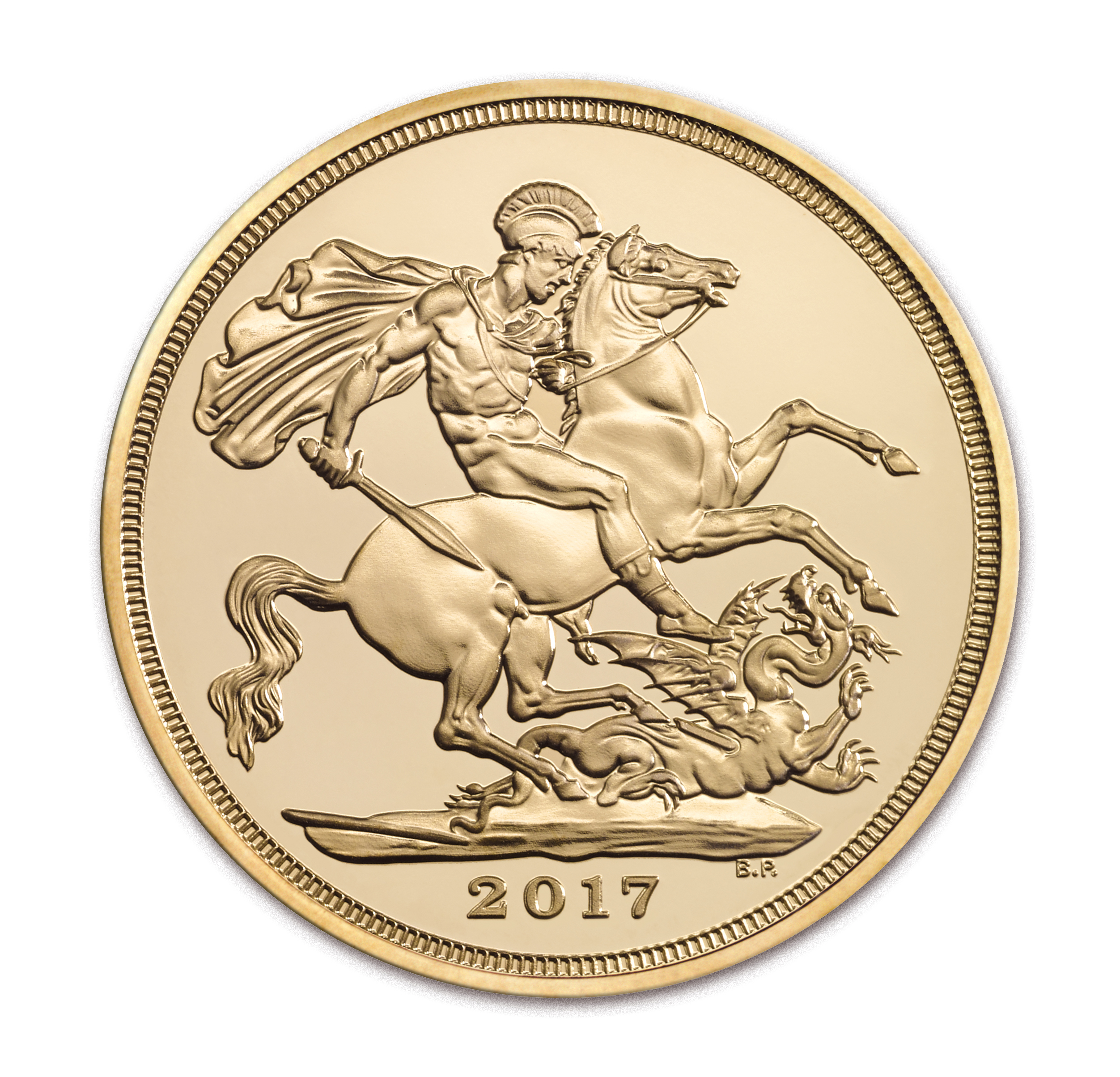 2017 Great Britain Gold Sapphire Jubilee Sovereign