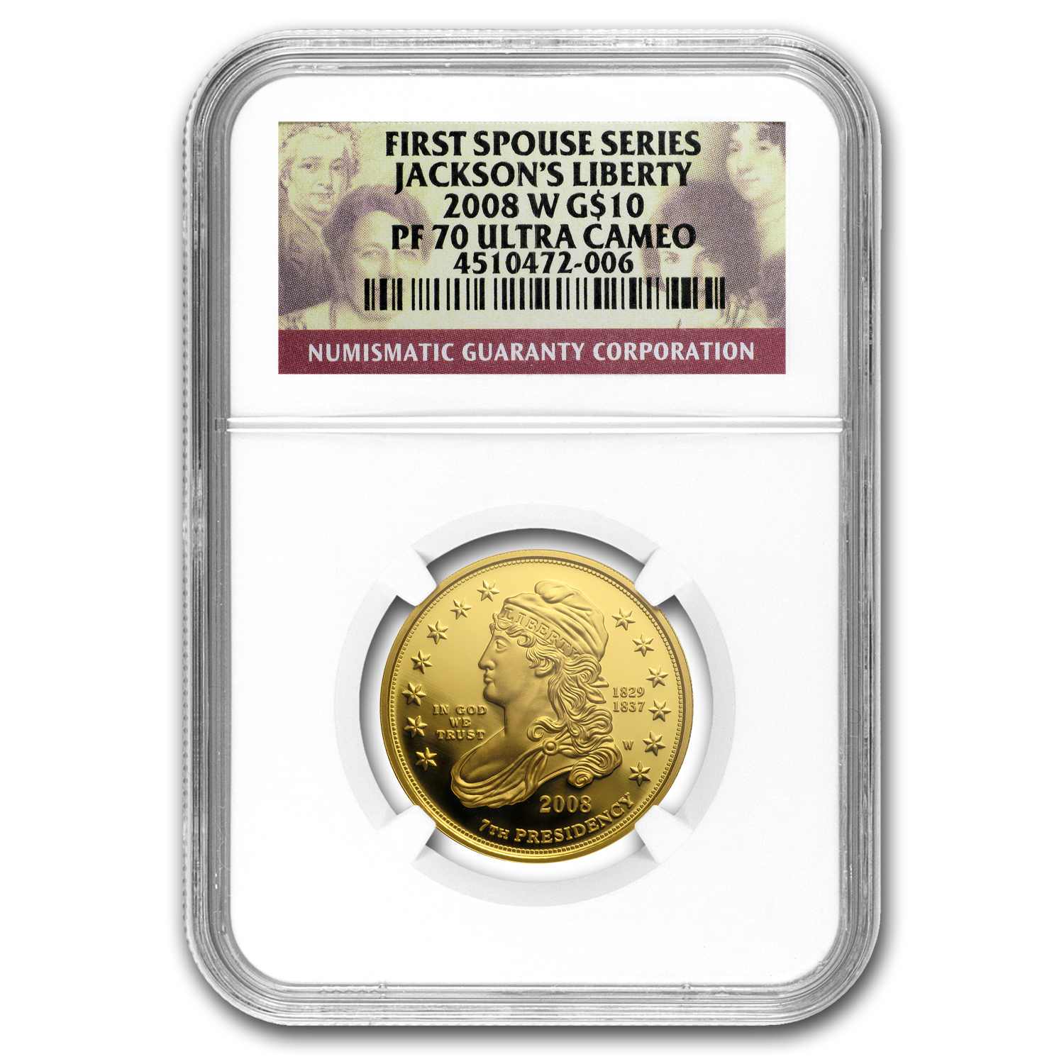 2007-2016 Complete First Spouse Set PF-70 NGC (Registry Set)