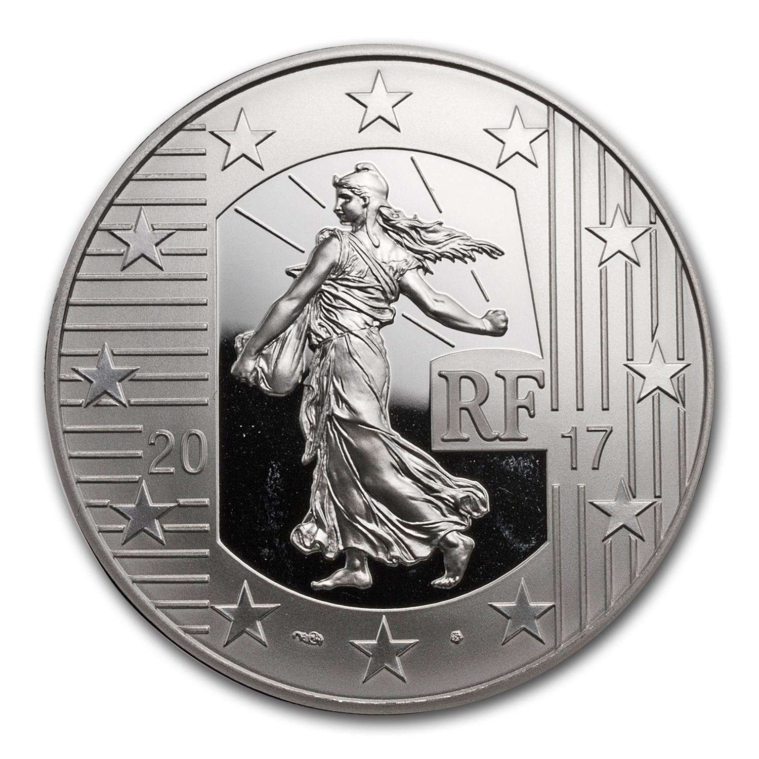 2017 Silver €10 The Sower Series Proof (The Louis d'or)