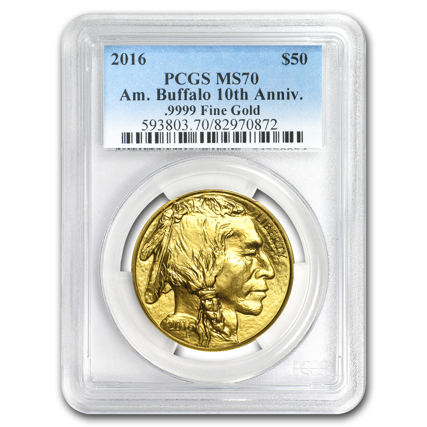 2016 1 oz Gold Buffalo MS-70 PCGS