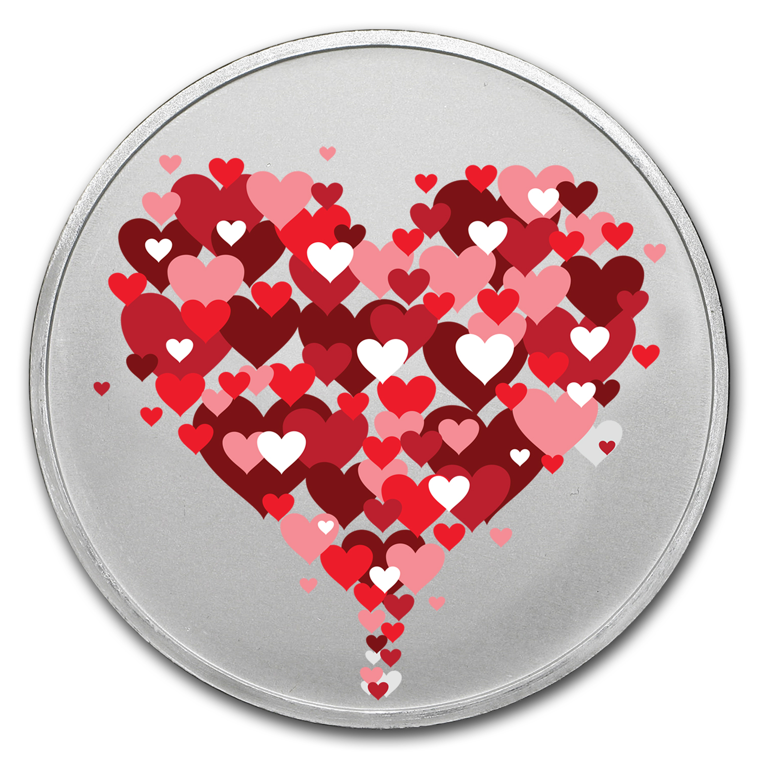 1 oz Silver Colorized Round - APMEX (Hearts Rising)