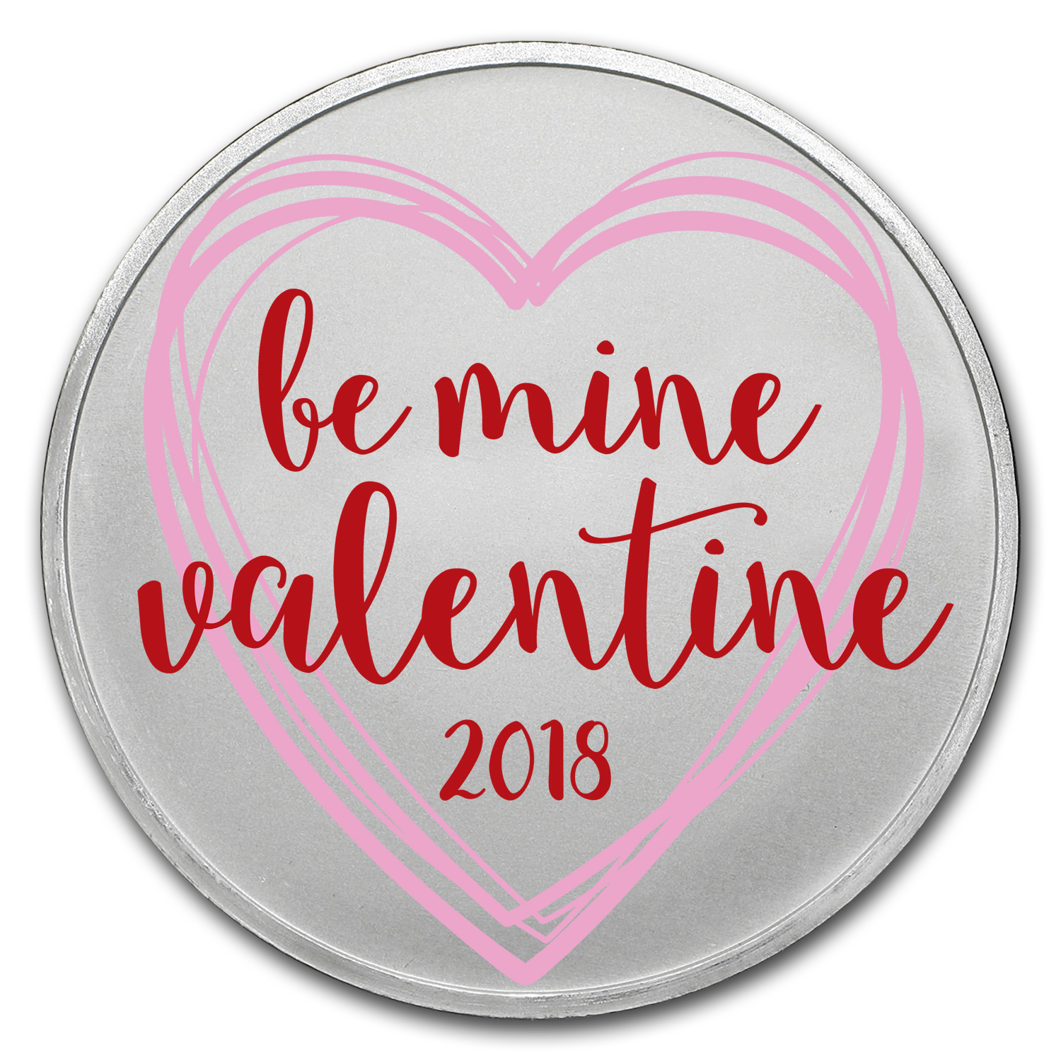 1 oz Silver Colorized Round - APMEX (Be Mine Valentine)