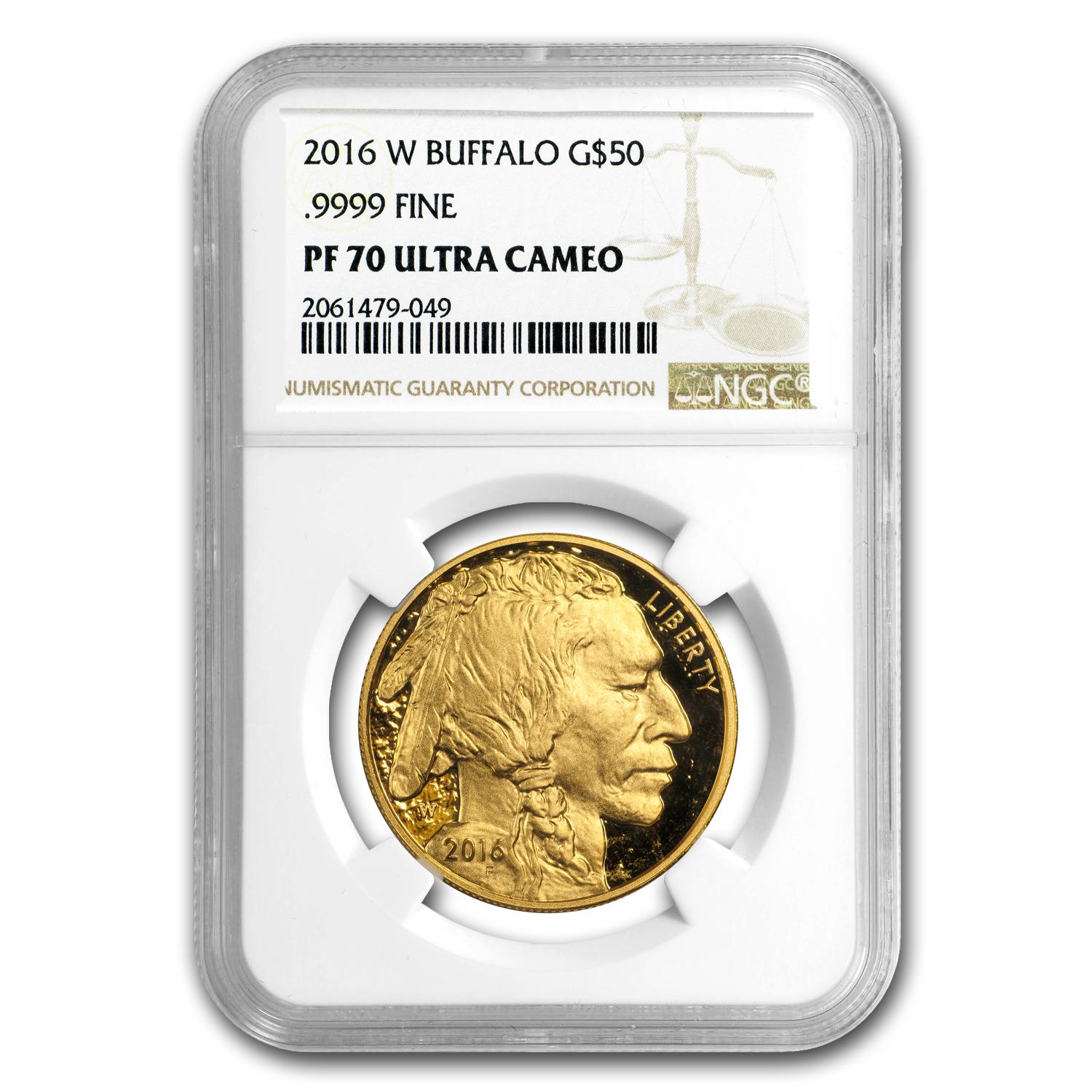 2016-W 1 oz Proof Gold Buffalo PF-70 NGC
