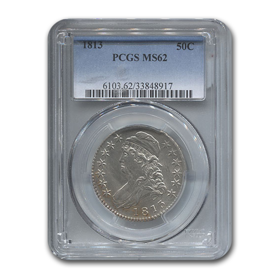 1813 Capped Bust Half Dollar MS-62 PCGS
