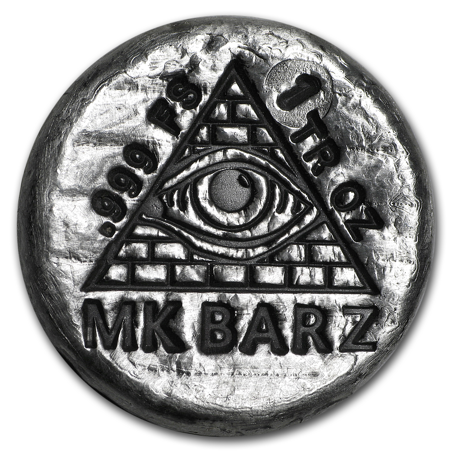 1 oz Silver Round - Mk Barz & Bullion (All-Seeing Eye)