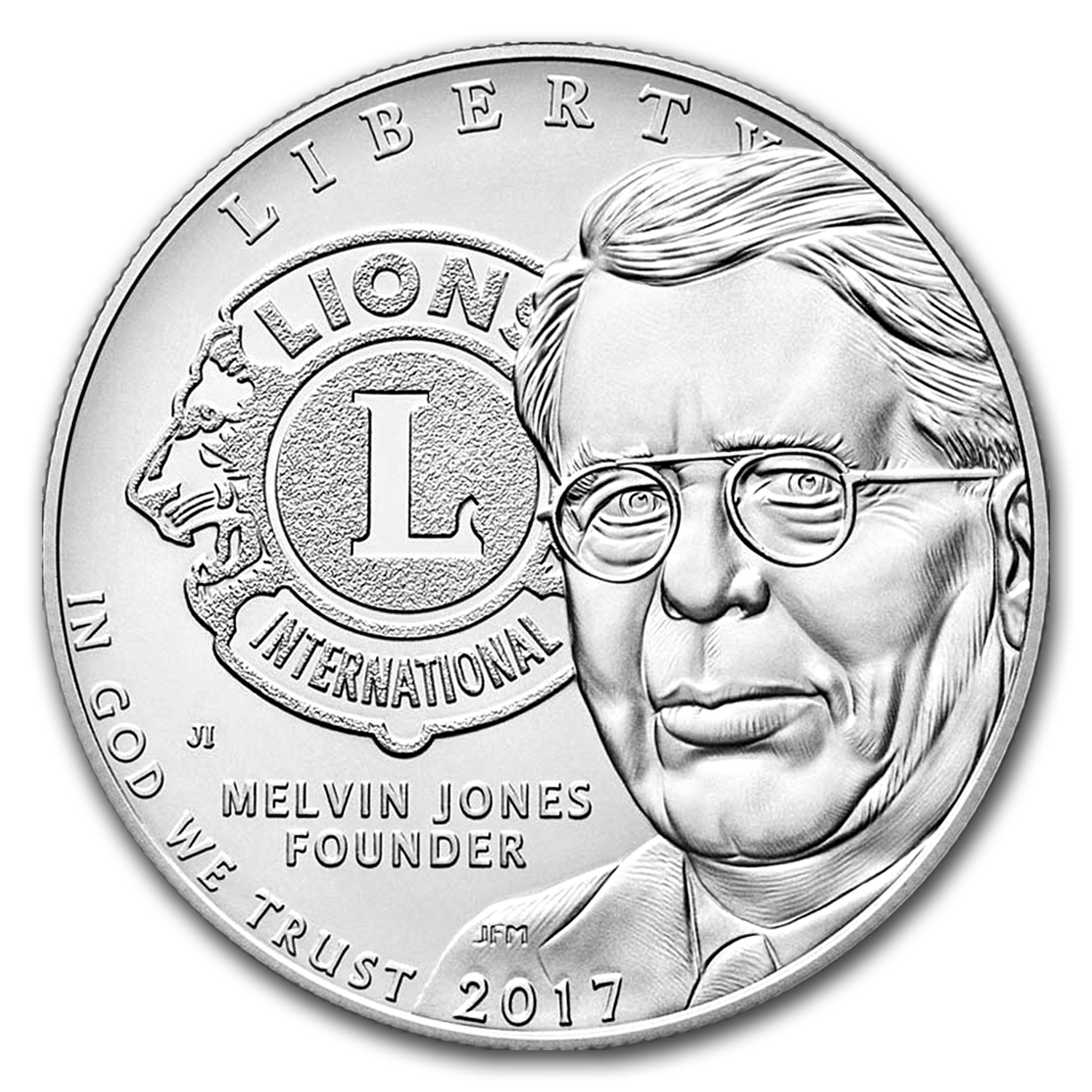 2017 Lions Club International Silver Proof (Box & COA)
