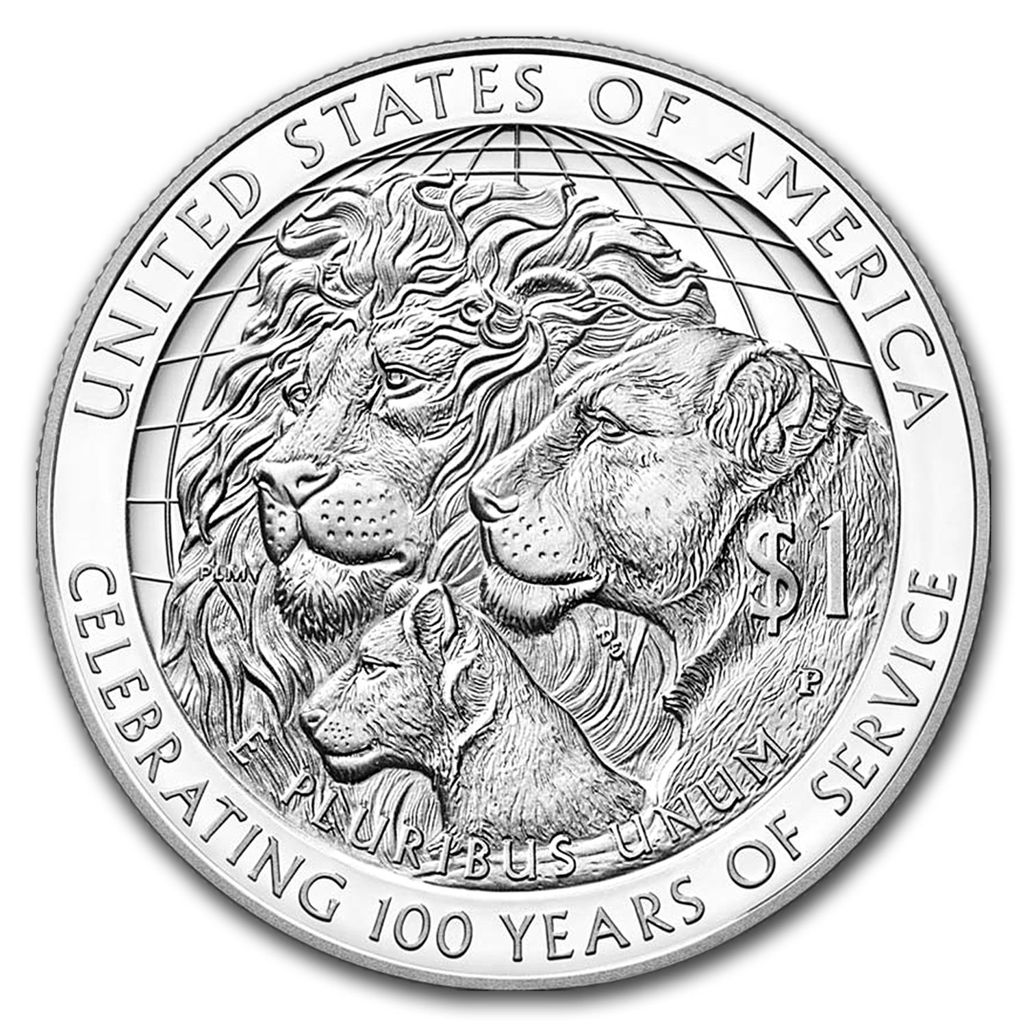 2017 Lions Club International Silver BU (Box & COA)
