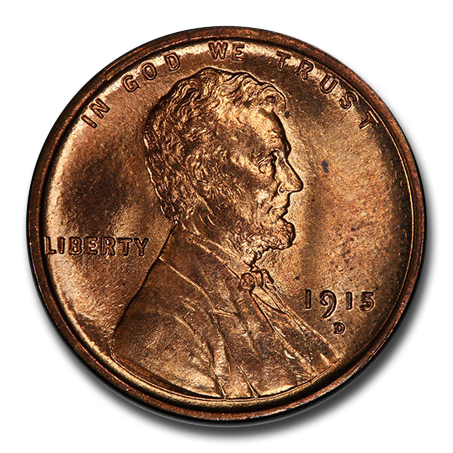 1915-D Lincoln Cent MS-64 PCGS (Red)