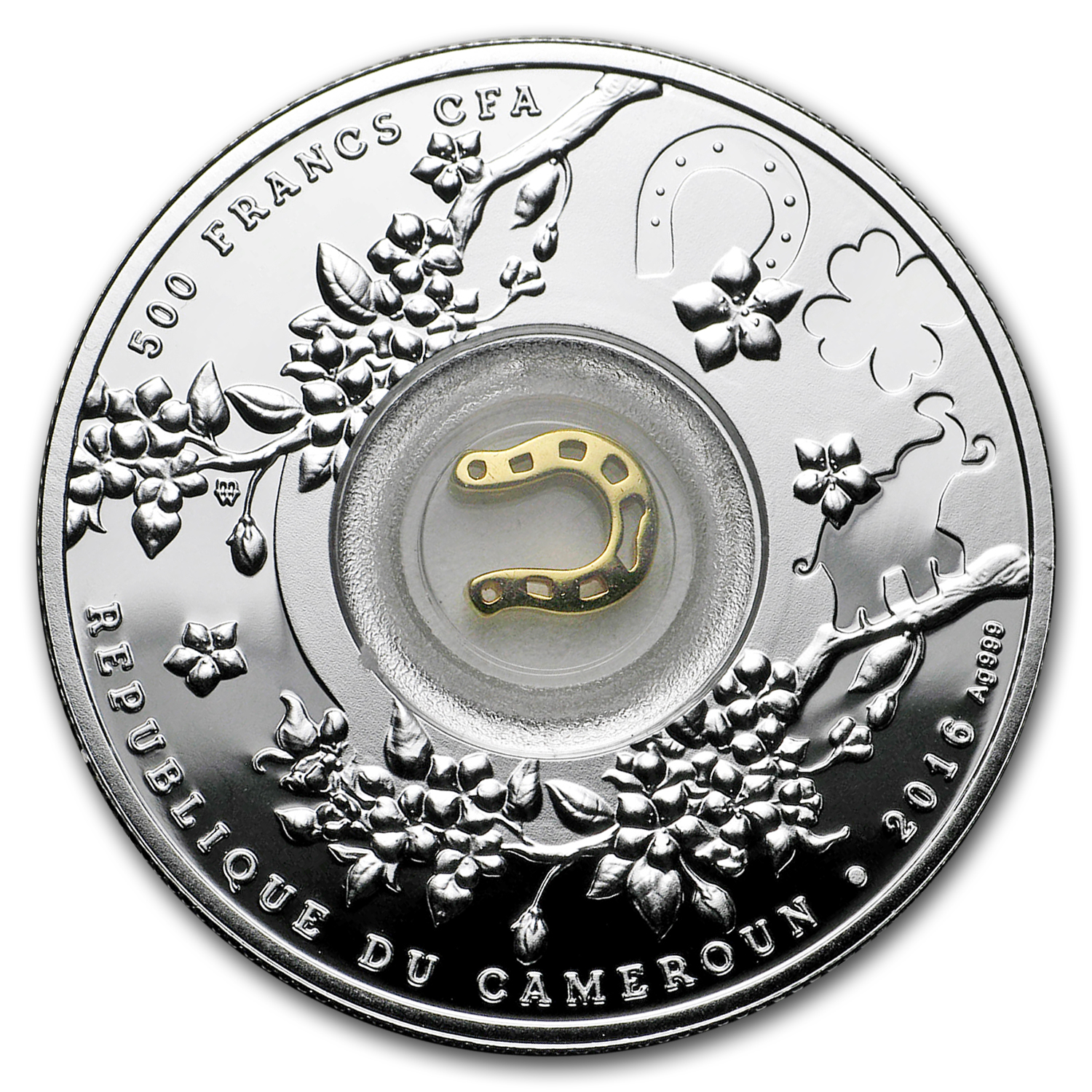 2016 Republic of Cameroon Lucky Seven (Horseshoes)