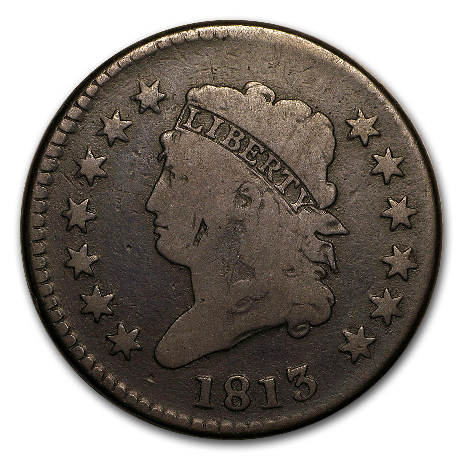 1813 Large Cent VG