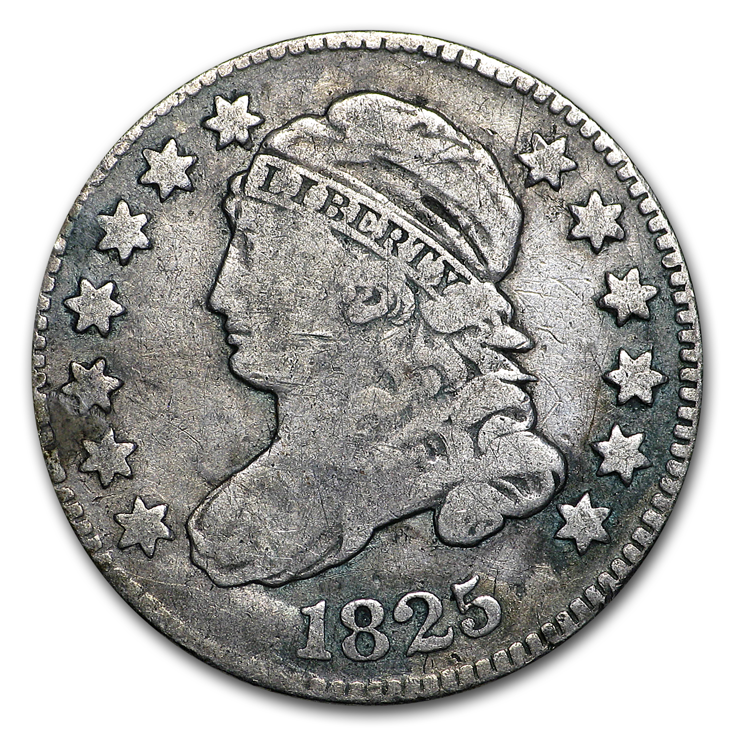 1825 Capped Bust Dime Fine