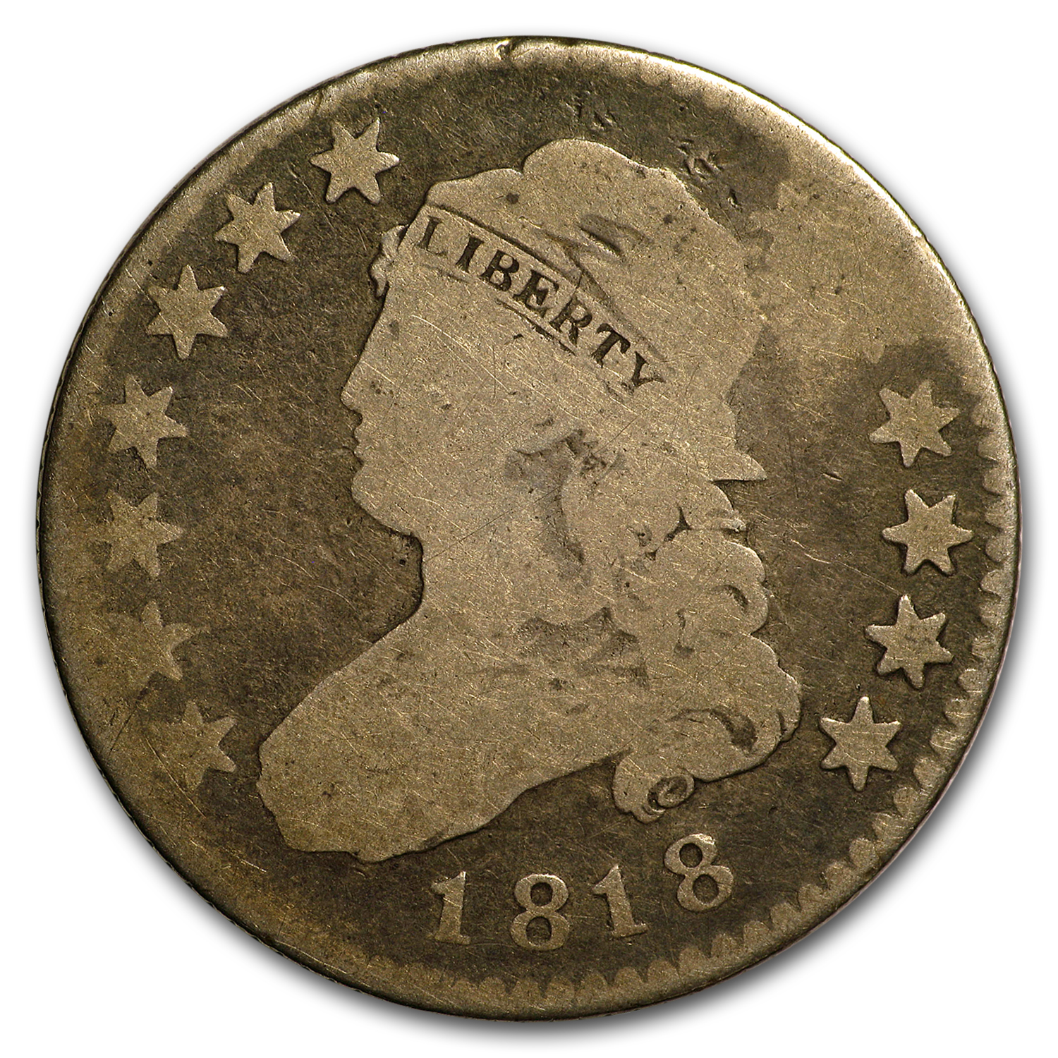 1818 Capped Bust Quarter Good