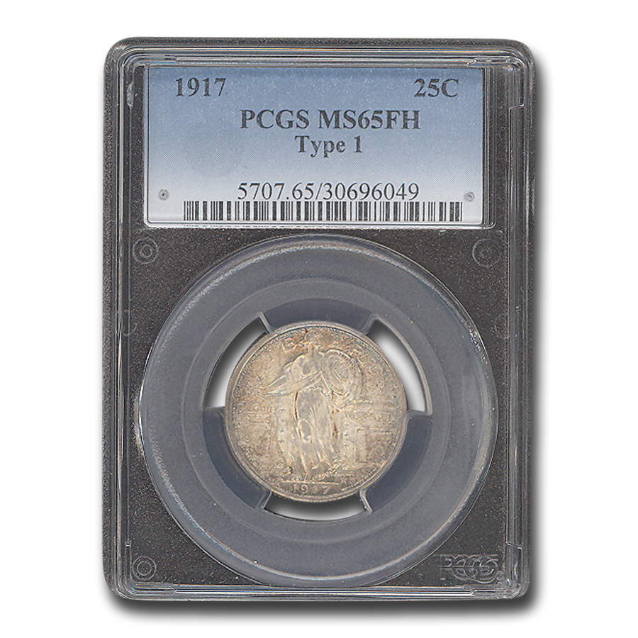 1917 Standing Liberty Quarter Type-I MS-65 PCGS (Full Head)