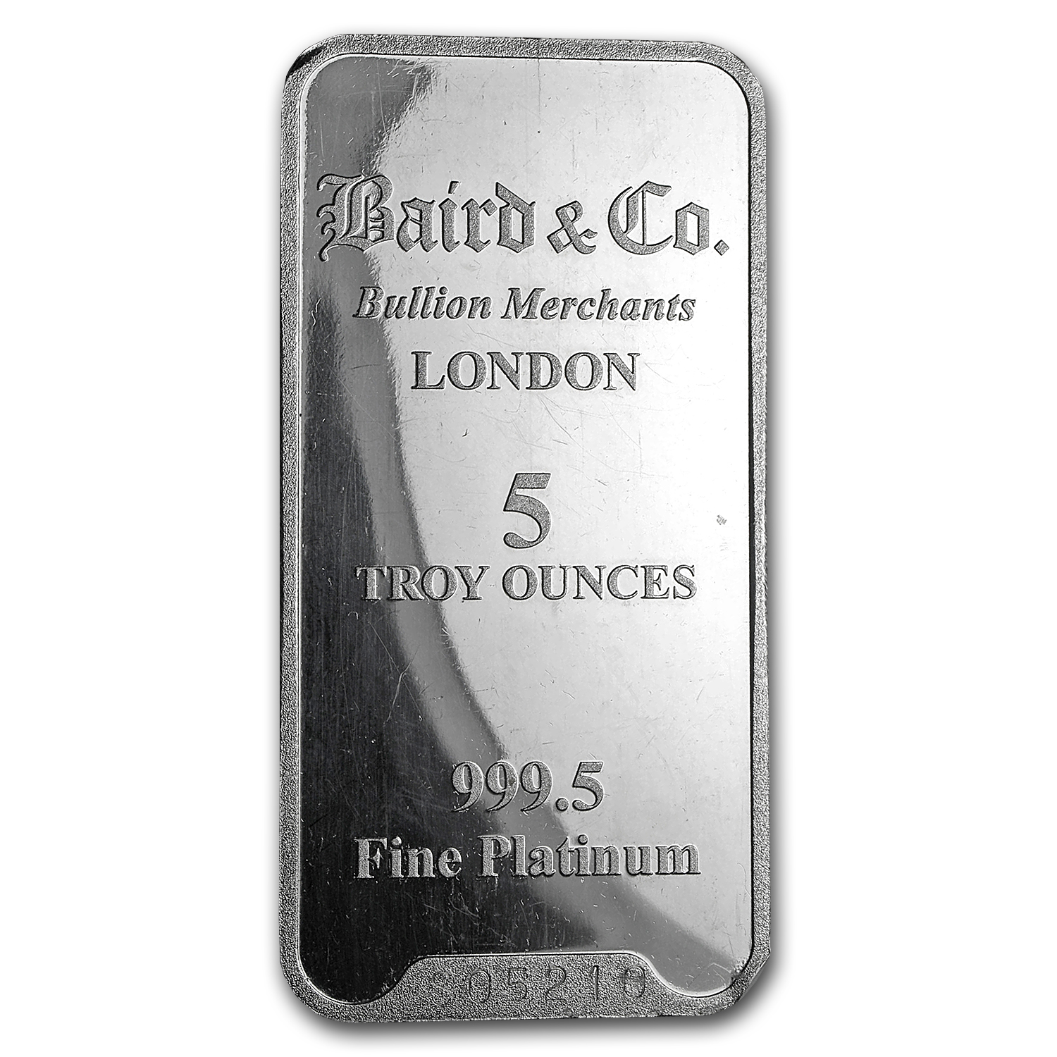 5 oz Platinum Bar - Secondary Market