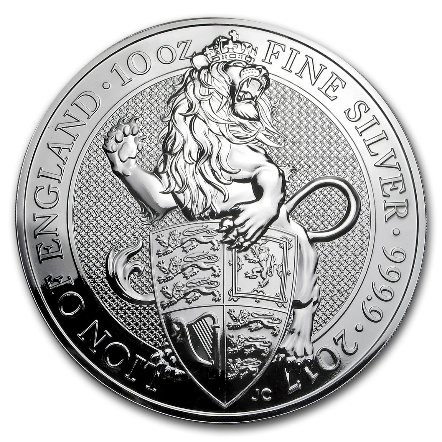 2017 Great Britain 10 oz Silver Queen's Beast The Lion