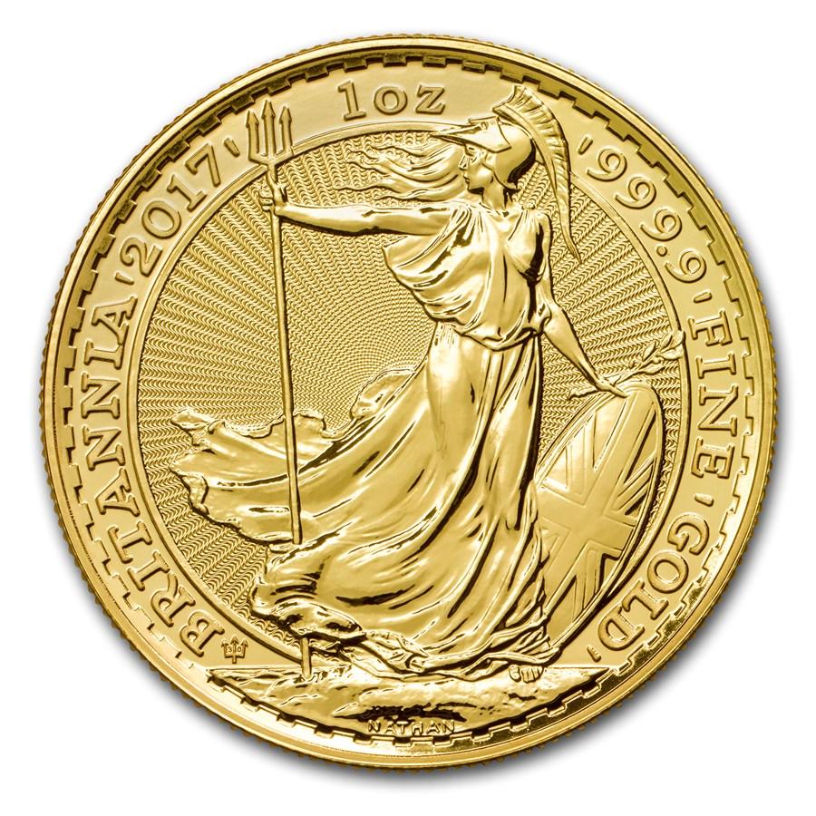 2017 Great Britain 1 Oz Gold Britannia 30th Anniv Privy