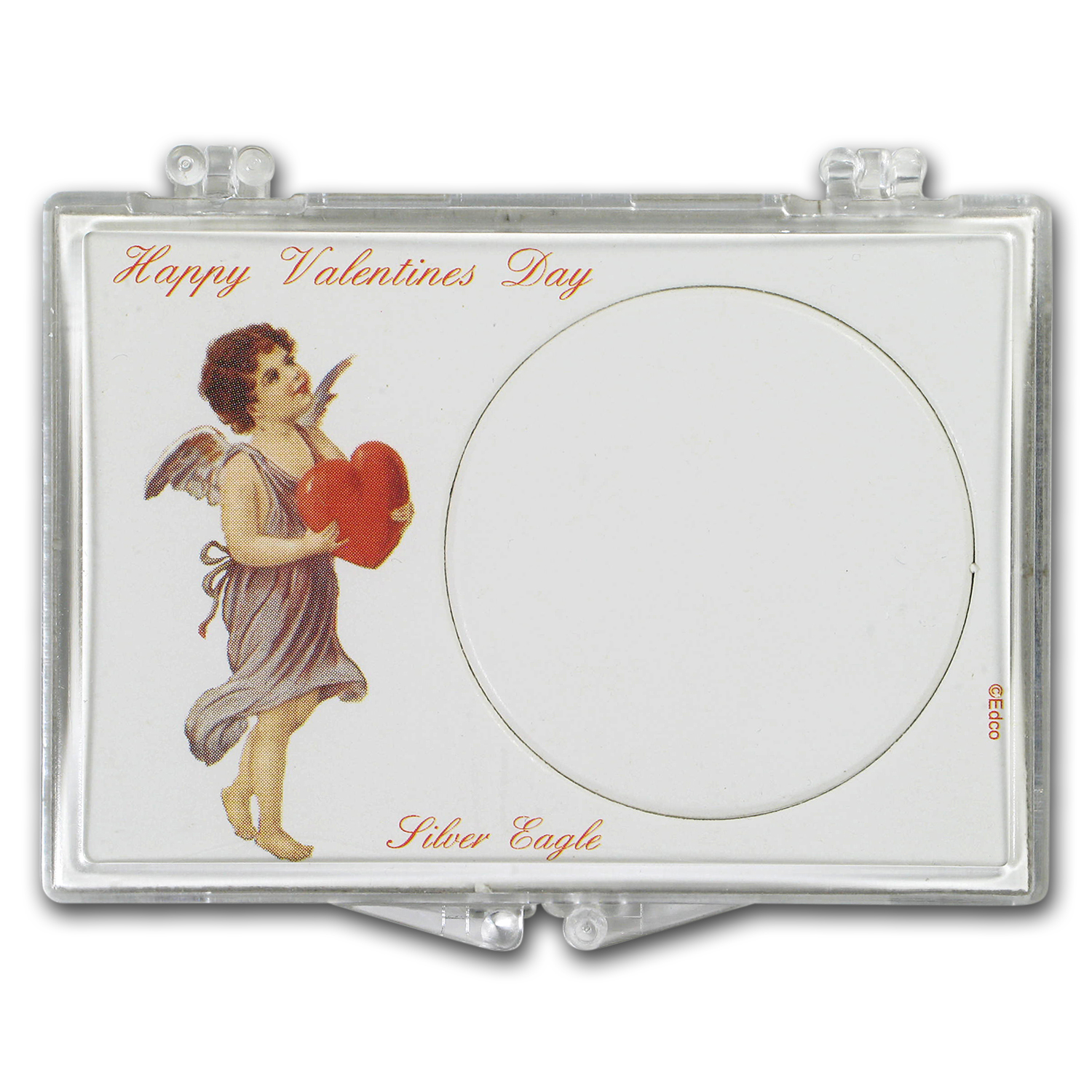 Snap-Lock Holder - Happy Valentine's Day (Silver Eagle)