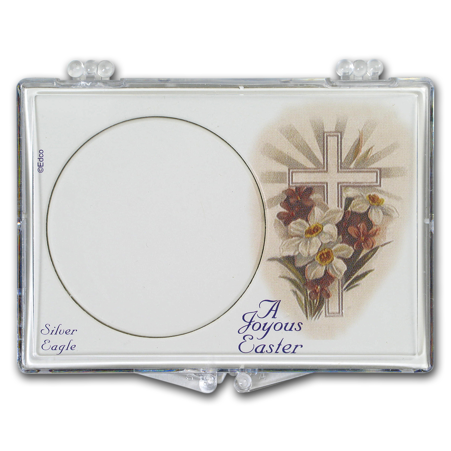 Snap-Lock Holder - Easter Cross (Silver Eagle)