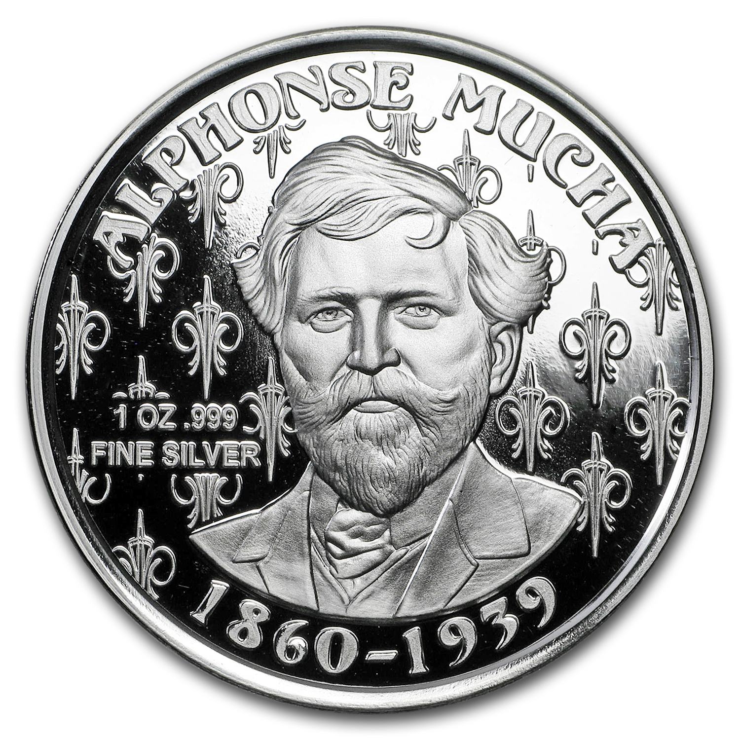 1 oz Silver Proof Round Mucha Collection (JOB)