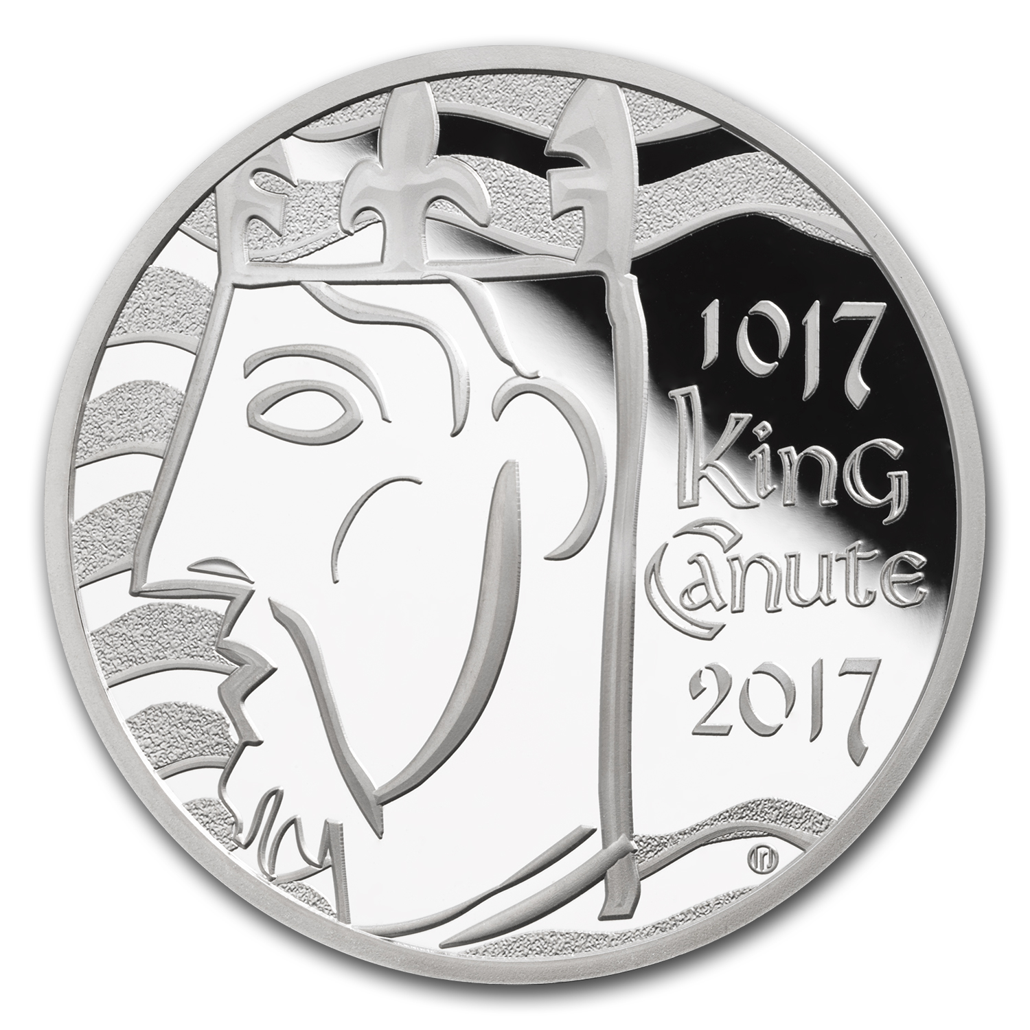 2017 Great Britain £5 Silver Coronation of King Canute Piedfort