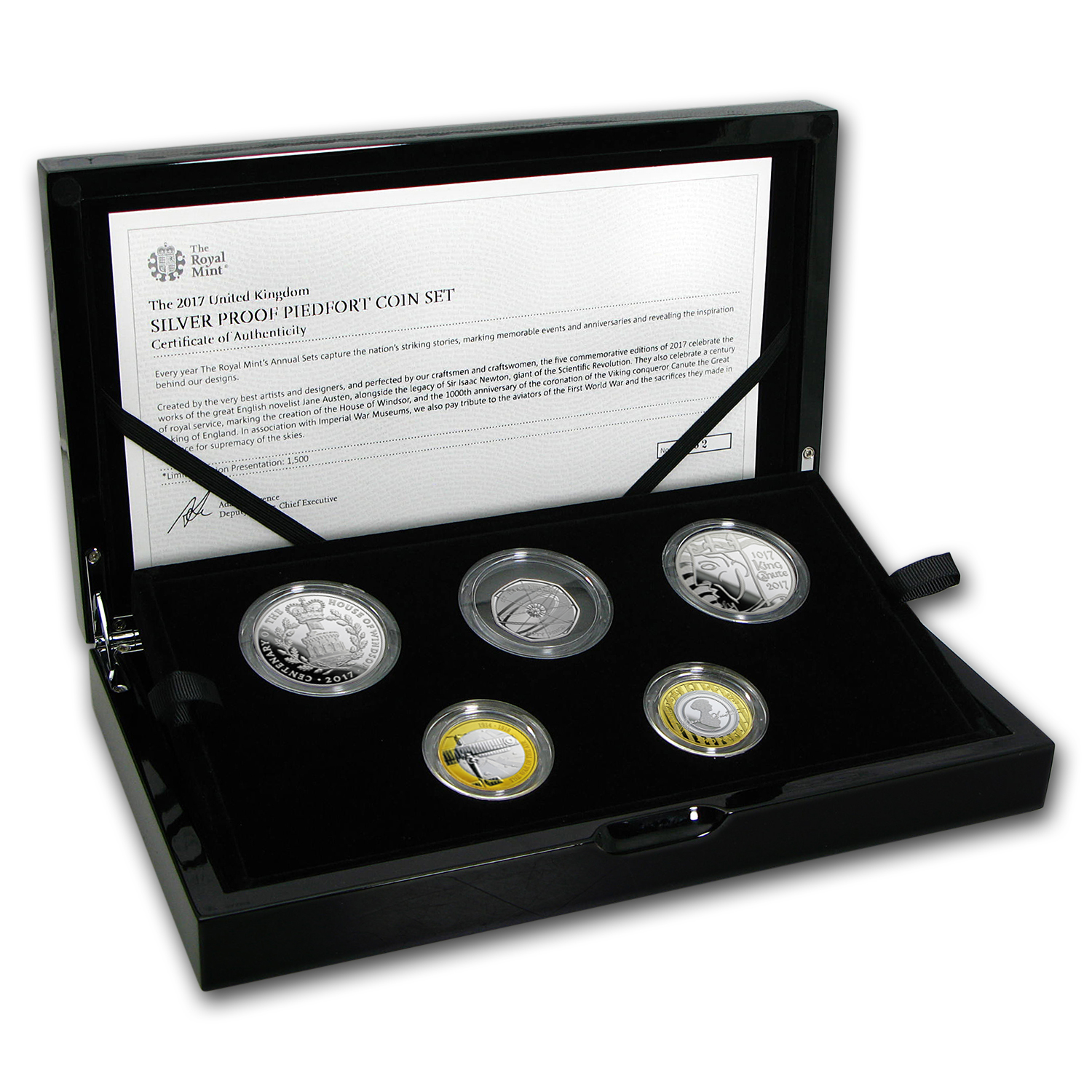 2017 Great Britain 5-Coin Silver Piedfort Proof Set