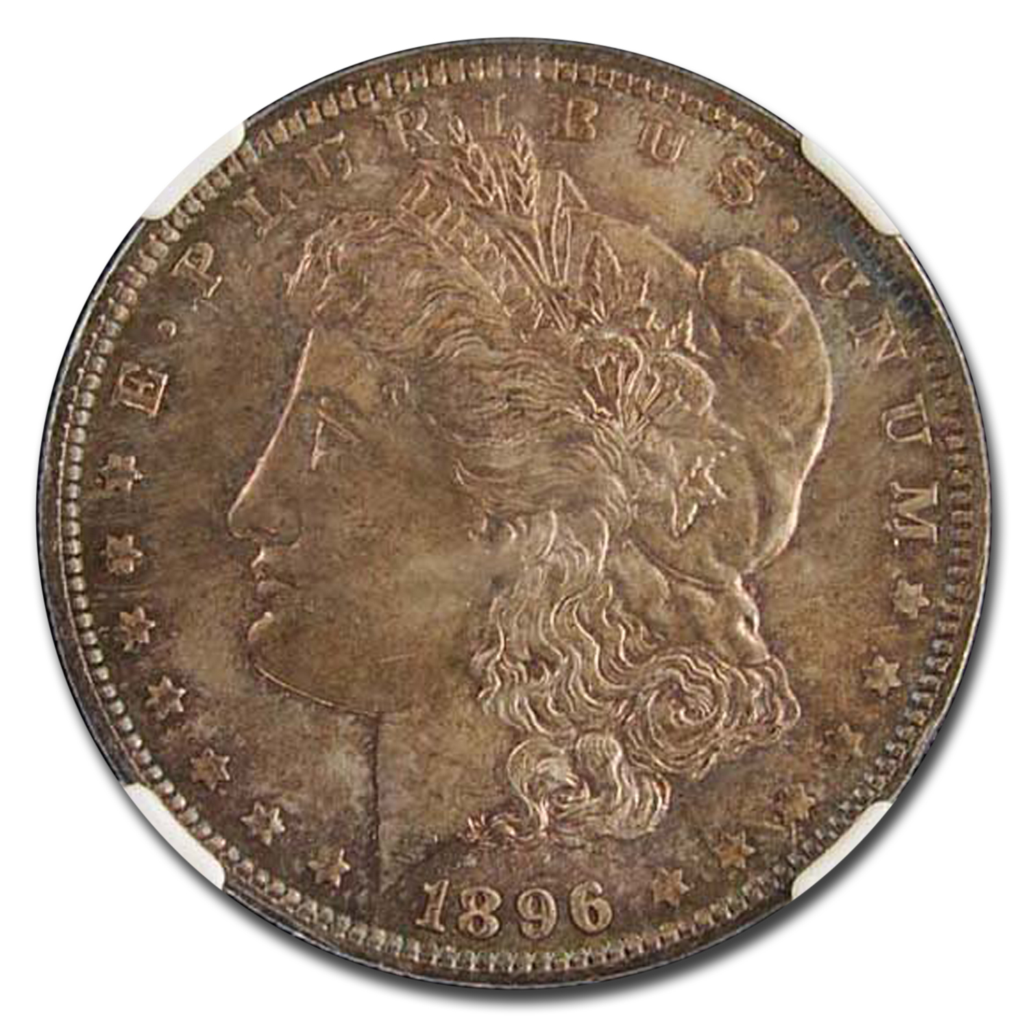 1896 Morgan Dollar MS-65 NGC (Beautiful Obv & Rev Toning)