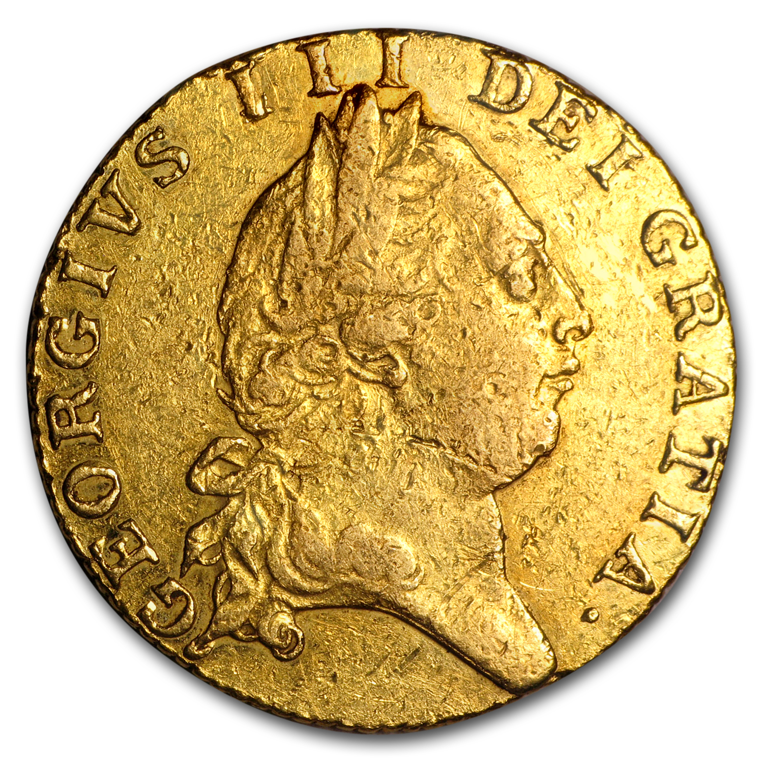 1789 Great Britain Gold Guinea George III VF