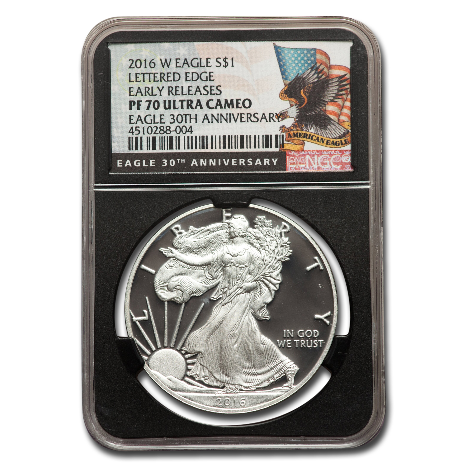 2016 W Proof Silver American Eagle Pf 70 Ngc Er Black