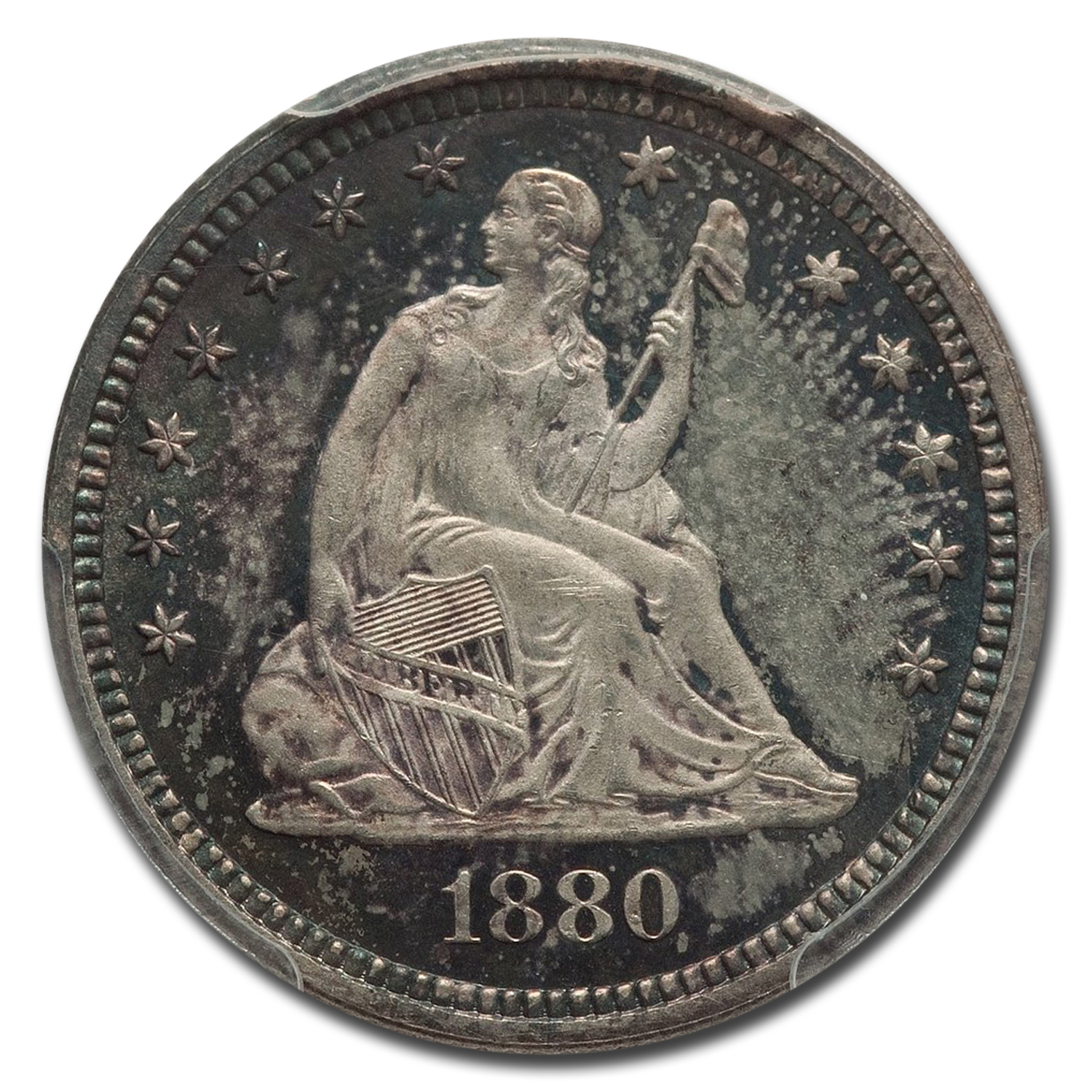 1880 Liberty Seated Quarter MS-64 PCGS