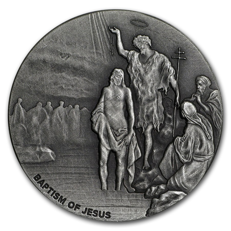 2017 2 Oz Silver Coin Biblical Series The Baptism Of