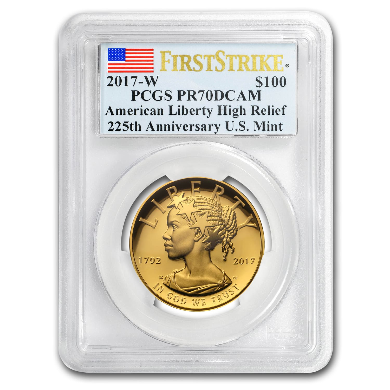 2017 High Relief American Liberty Gold PR-70 PCGS (First Strike)