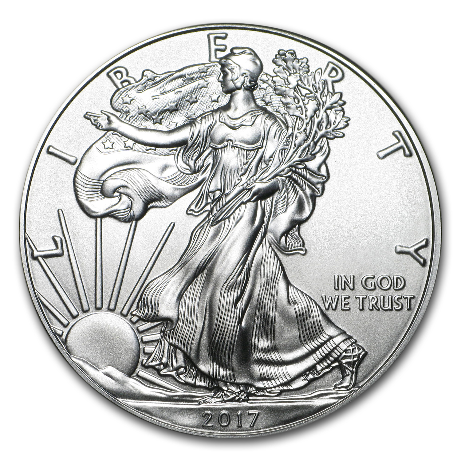 2017 1 oz Silver Eagle BU (Easter Angels, Snap-Lock)