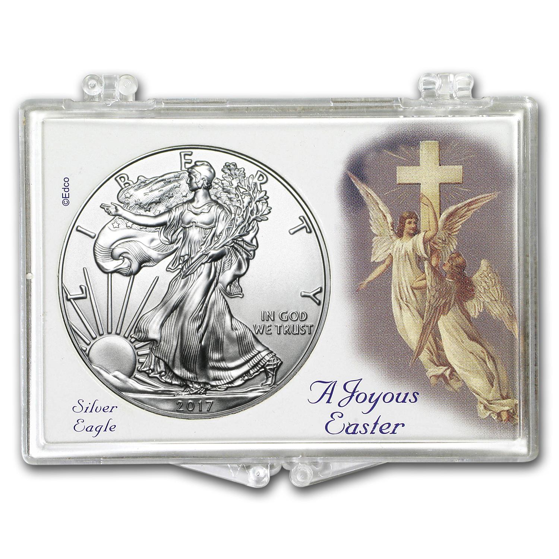 2017 1 Oz Silver Eagle Bu Easter Angels Snap Lock