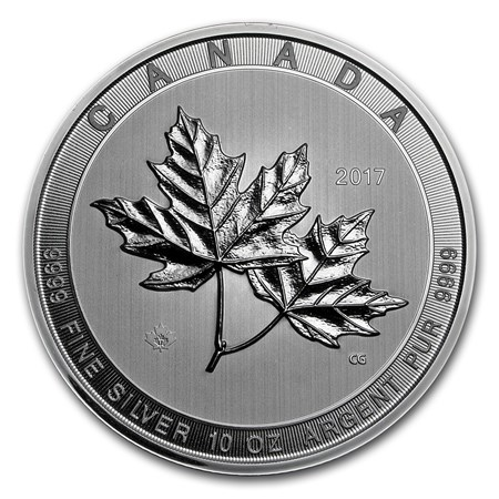 2017 Canada 10 Oz Silver 50 Magnificent Maple Leaves Bu