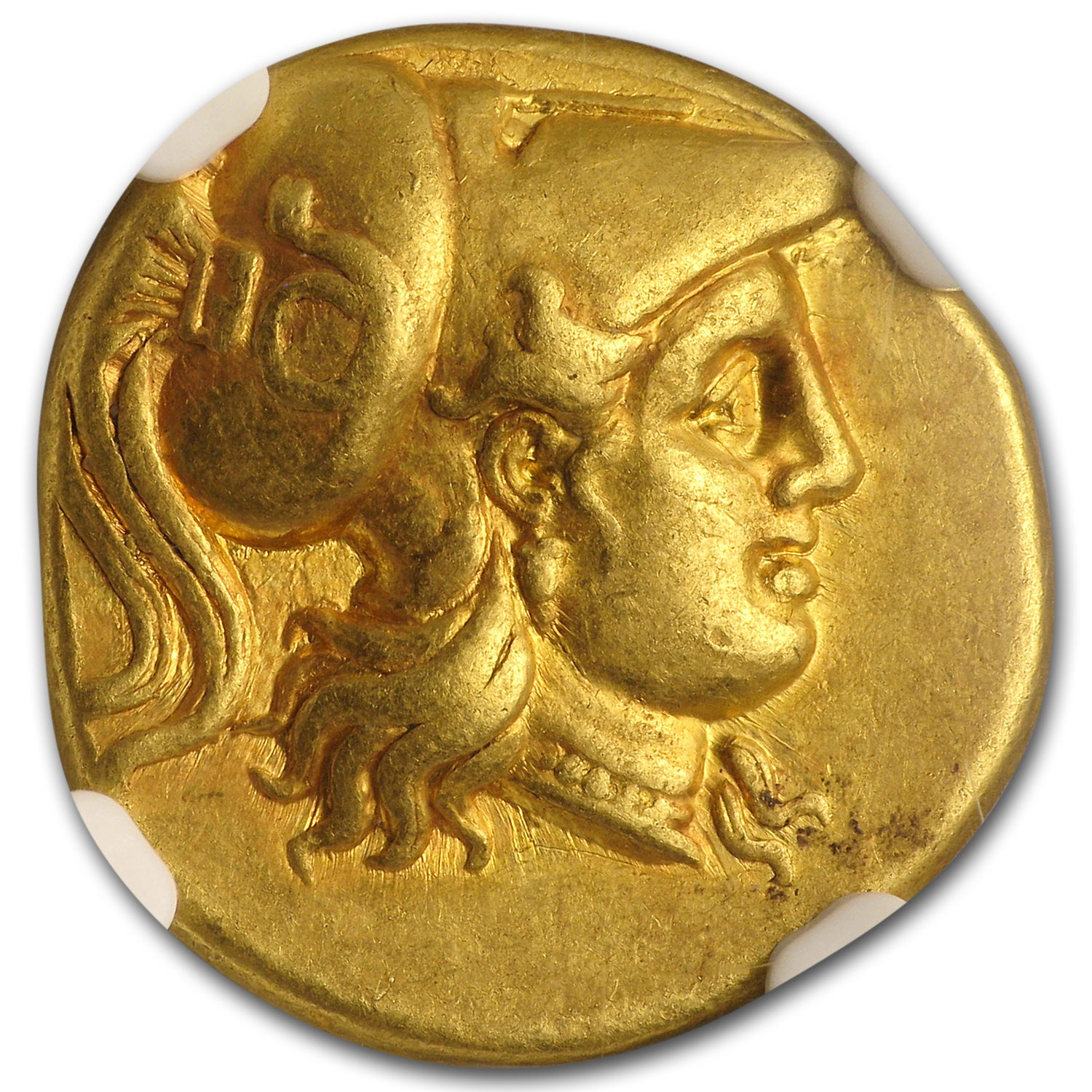 Macedonia Gold Stater of Alexander III (336-323 BC) CH XF NGC