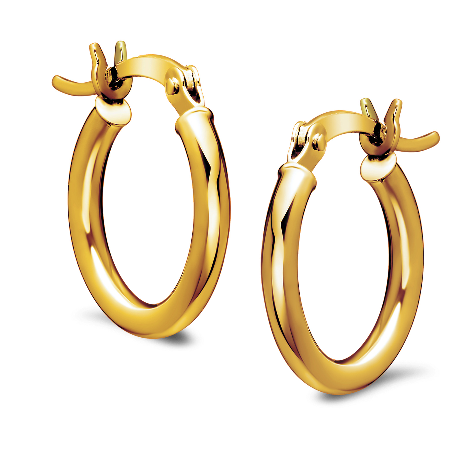 14k Gold Polished Hoop Earrings