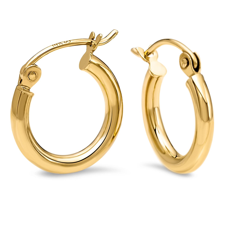 14k Gold Polished Hoop Earrings Gold Earrings Apmex