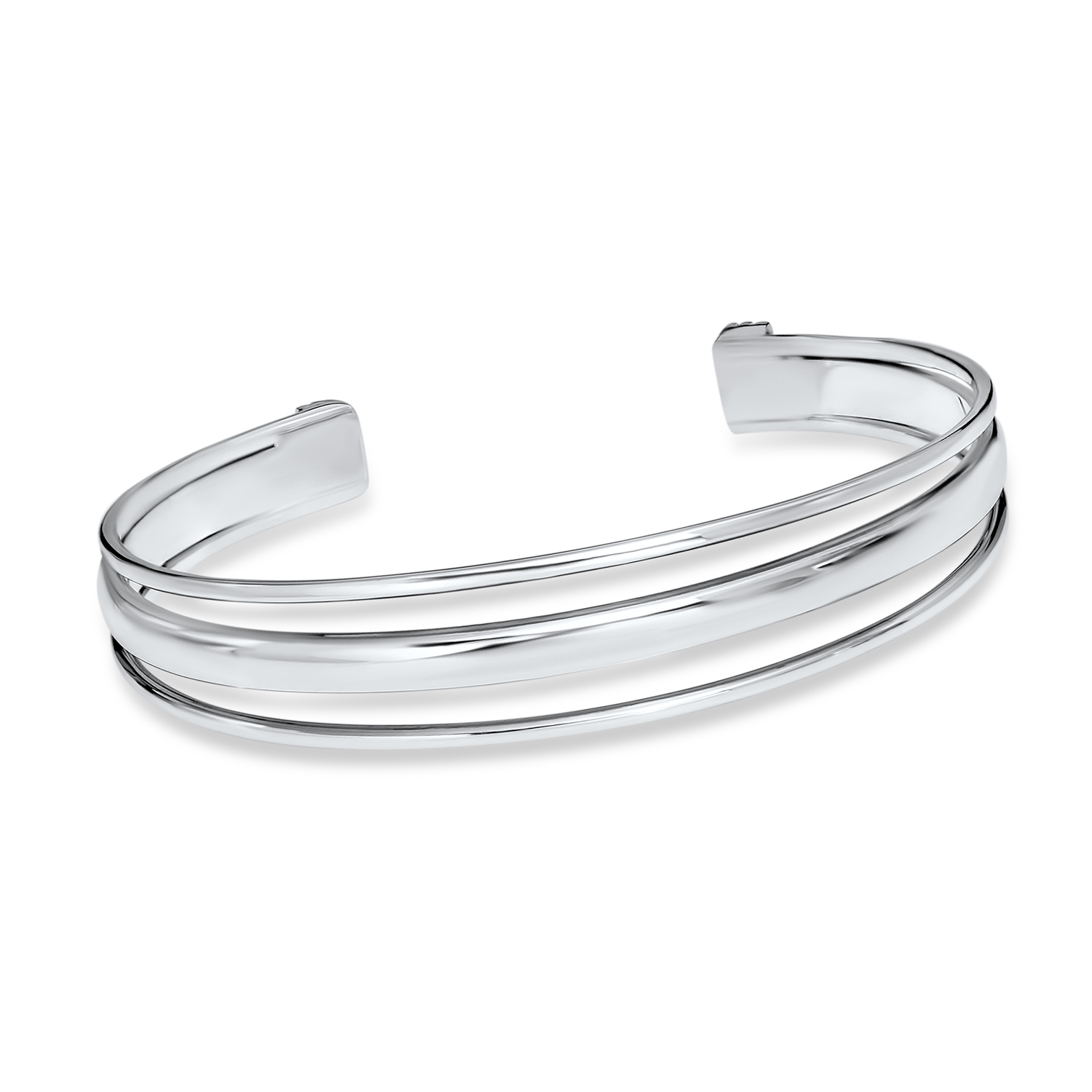 Sterling Silver Polished Slip-On Bangle