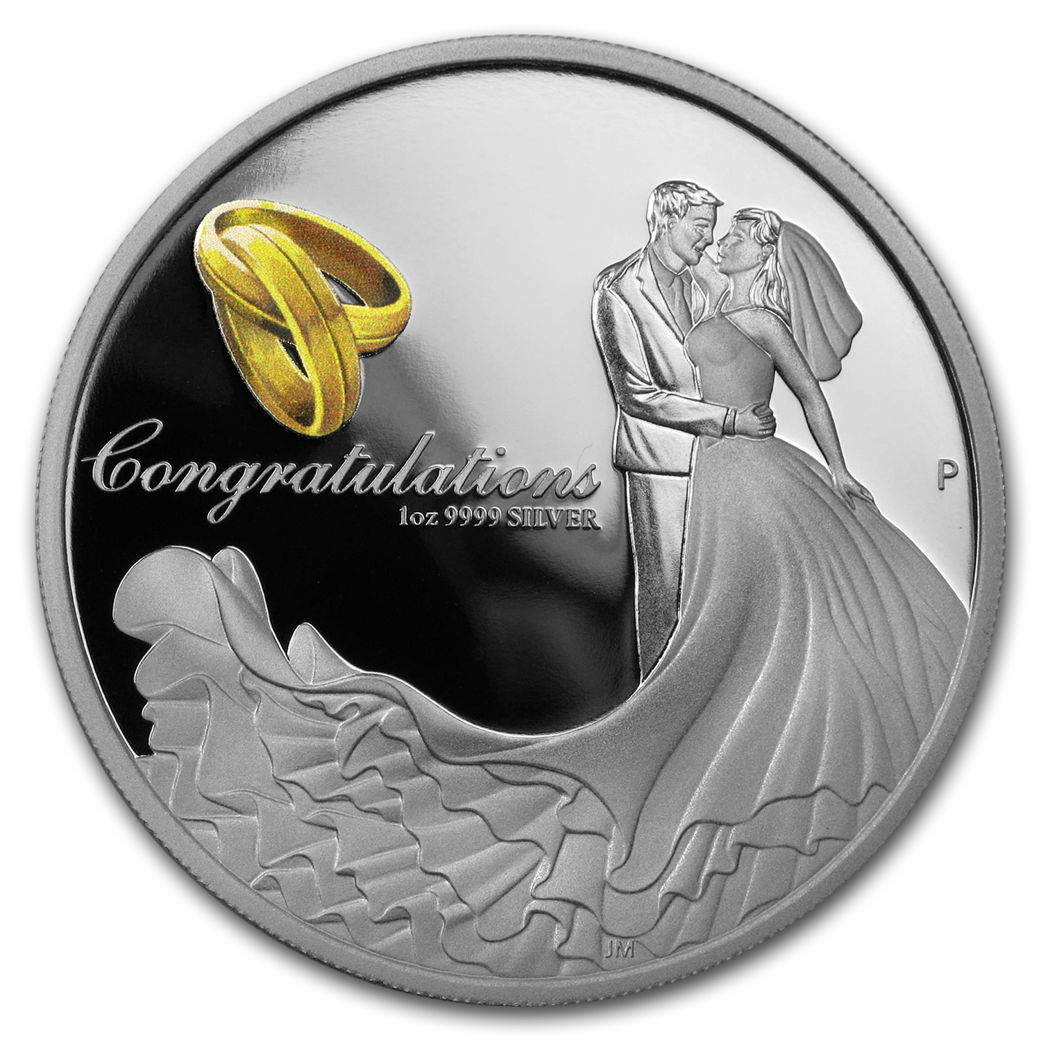 2017 Australia 1 oz Silver Wedding Proof