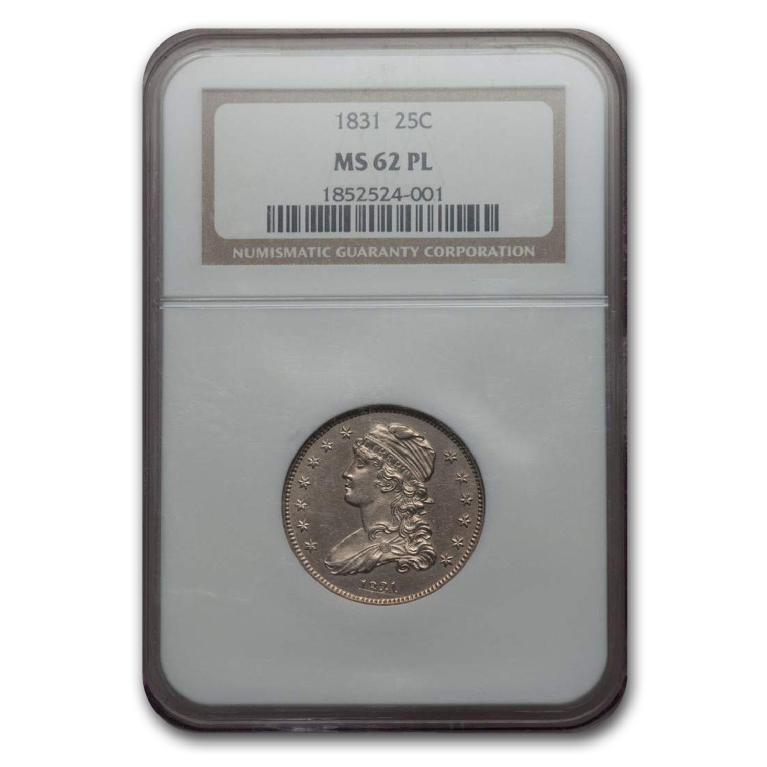 1831 Capped Bust Quarter MS-62 NGC (PL)
