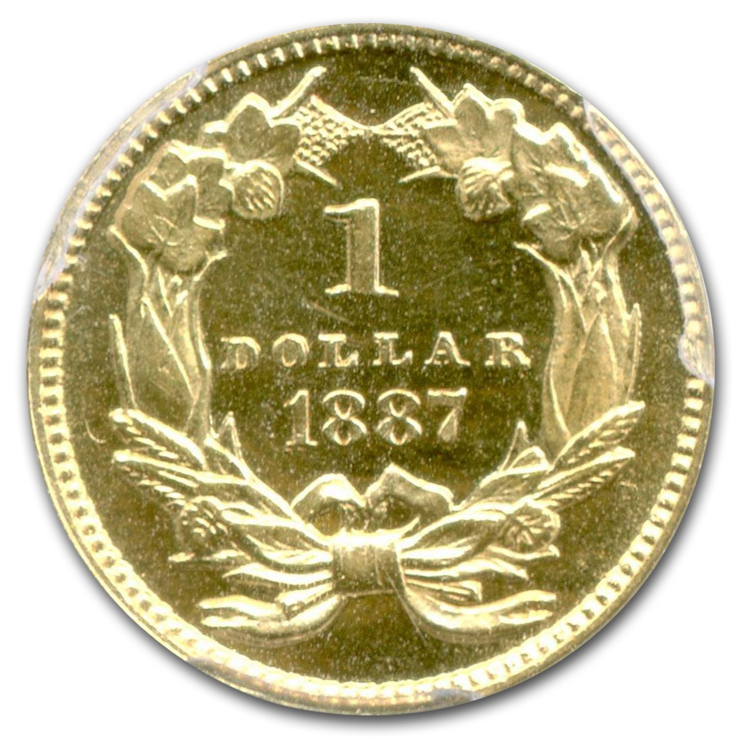 1887 $1 Indian Head Gold PR-64 PCGS