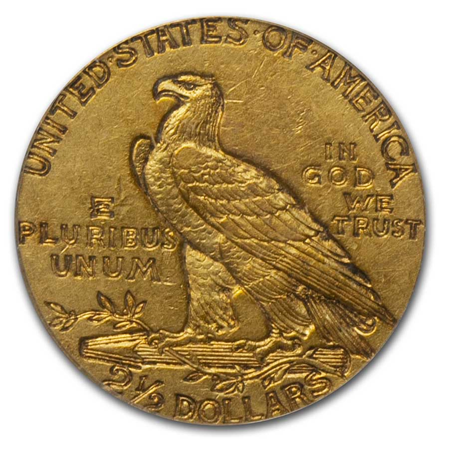 1911-D $2.50 Indian Gold Quarter Eagle XF-45 PCGS (Strong D)