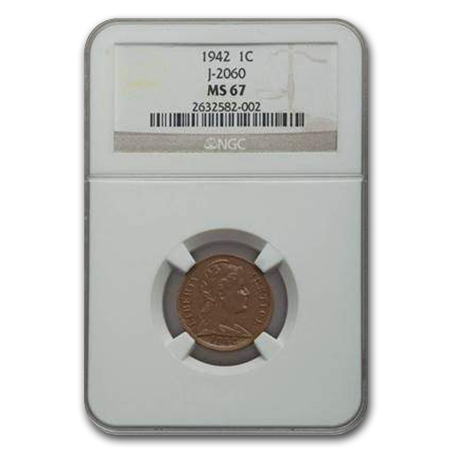 1942 Liberty Head Cent MS-67 NGC (Judd-2060)