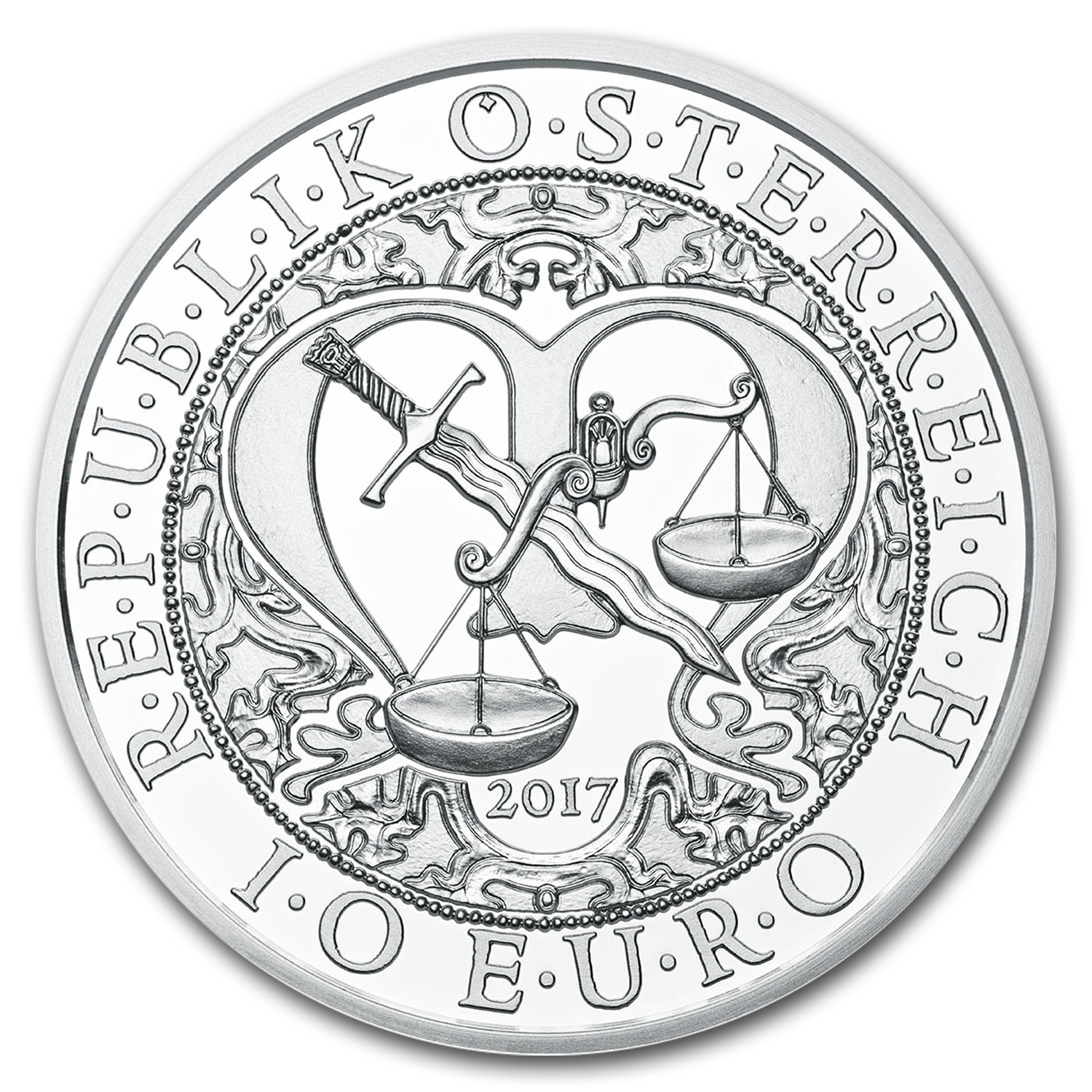 2017 Austria Silver €10 Guardian Angels (Michael)