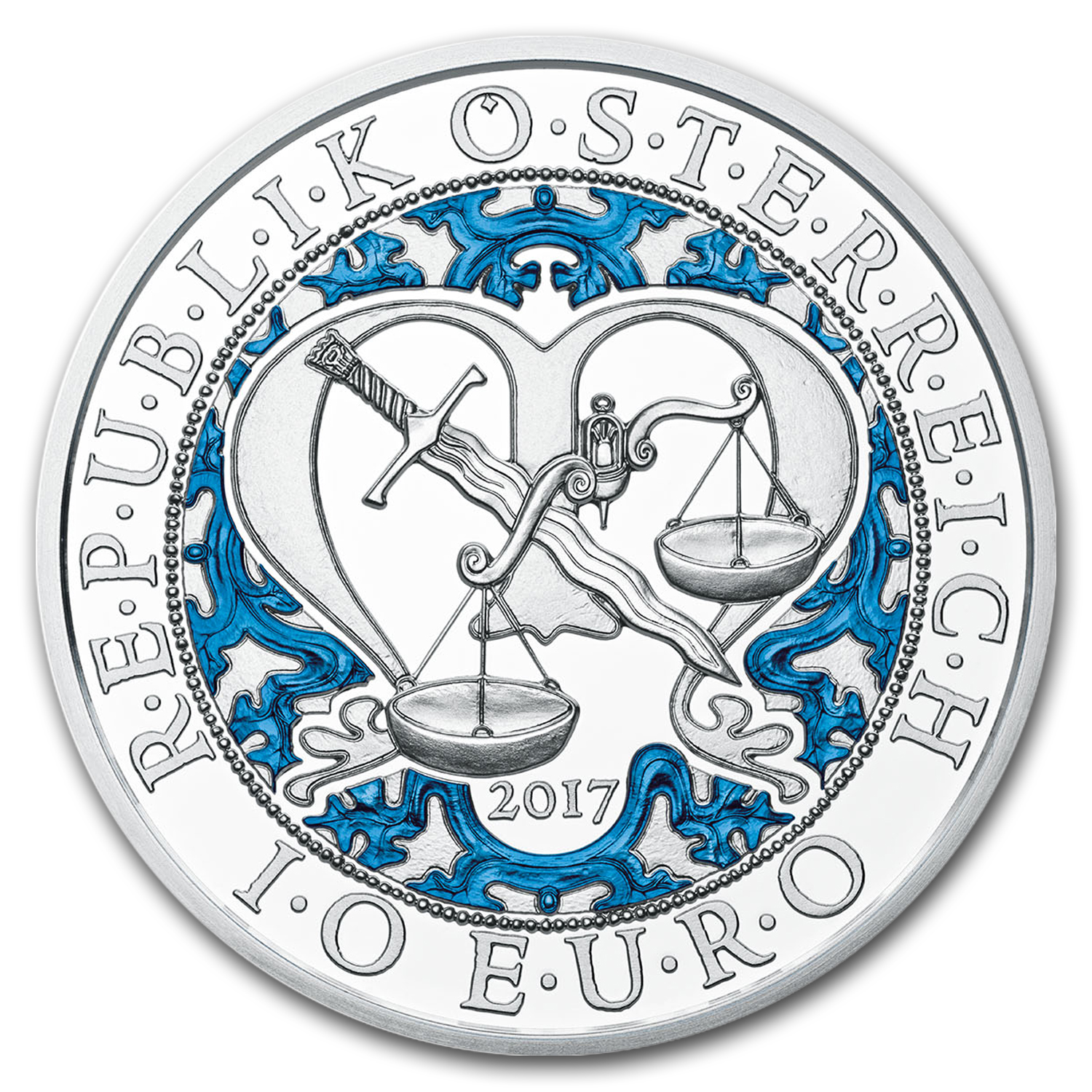 2017 Austria Proof Silver €10 Guardian Angels (Michael)