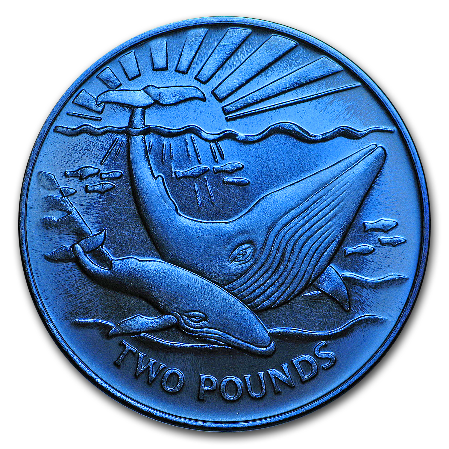 2017 South Georgia 1/3 oz Blue Titanium Whale