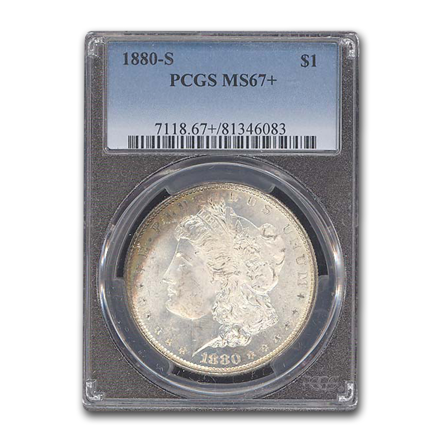 1880-S Morgan Dollar MS-67+ PCGS